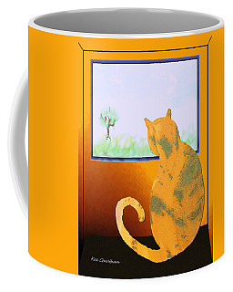 Fat Cat At Her Window Coffee Mug