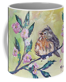Fat Robin Chick In A Cherry Tree Coffee Mug