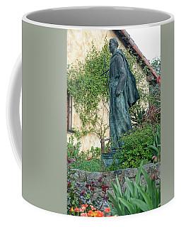Father Junipero Serra Statue At Mission Carmel Coffee Mug