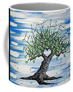 Coffee Mug featuring the drawing Father Love Tree by Aaron Bombalicki