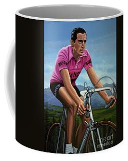 Fausto Coppi Painting Coffee Mug