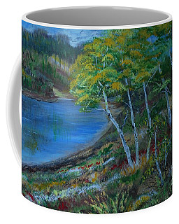 Coffee Mug featuring the painting Favorite Fishin' Hole by Leslie Allen