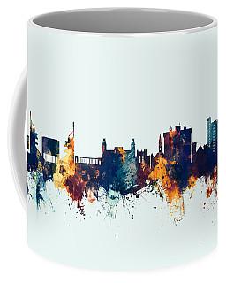 Coffee Mug featuring the digital art Fayetteville Arkansas Skyline by Michael Tompsett
