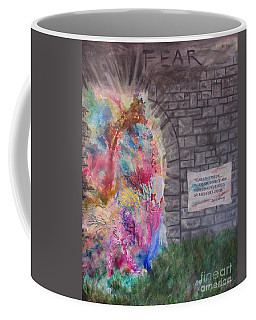 Fear Is The Prison... Coffee Mug by Denise Hoag