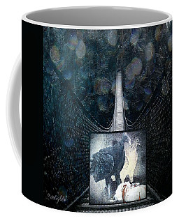 Coffee Mug featuring the digital art Fear Of Stairs by Delight Worthyn