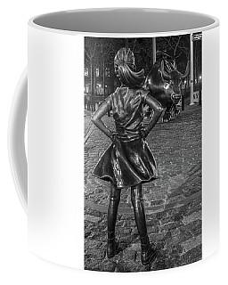 Fearless Girl And Charging Bull Nyc Coffee Mug