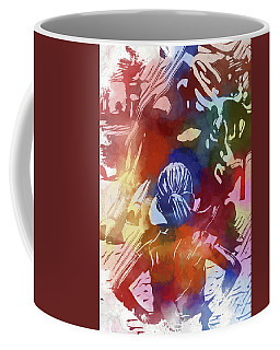Coffee Mug featuring the mixed media Fearless Girl Wall Street by Dan Sproul