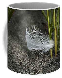 Feather And Beach Grass Coffee Mug