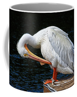 Coffee Mug featuring the photograph Feather Check by HH Photography of Florida