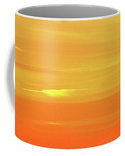 Coffee Mug featuring the photograph Feather Cloud In An Orange Sky  by Lyle Crump