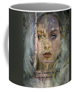 Feather In The River Coffee Mug