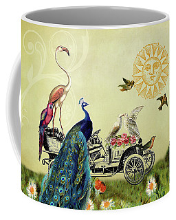 Feathered Friends In Paris, France Coffee Mug by Peggy Collins