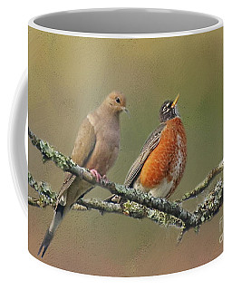 Coffee Mug featuring the photograph Feathered Friends by Myrna Bradshaw