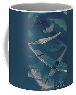 Feathers Floating In The Air Coffee Mug