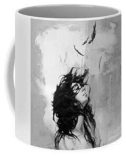 Feathers From Hair Coffee Mug by Gull G