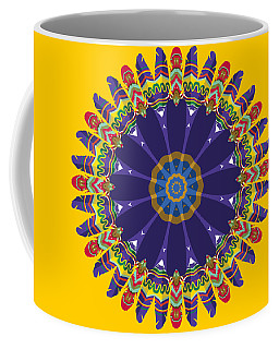 Coffee Mug featuring the digital art Feathers In The Round by Mary Machare