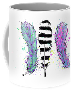 Coffee Mug featuring the digital art Feathers by Lizzy Love
