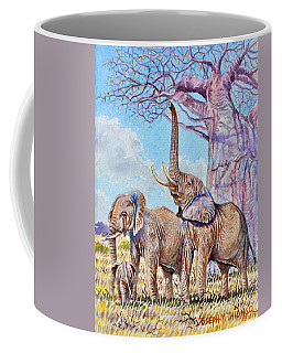 Feeding Elephants Coffee Mug