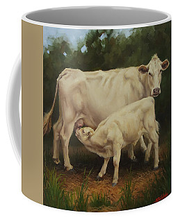Feeding In The Forest Coffee Mug