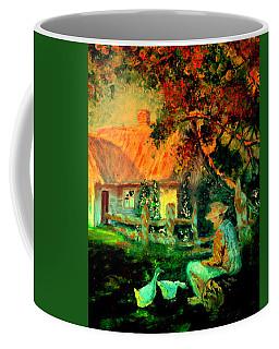 Feeding The Ducks,1985 Coffee Mug