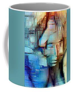 Coffee Mug featuring the digital art Feeling Blue by Rafael Salazar