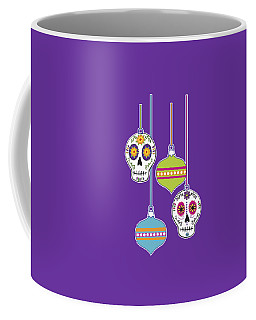 Feliz Navidad Holiday Sugar Skulls Coffee Mug