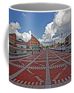 Coffee Mug featuring the photograph Fells Point Pier by Suzanne Stout