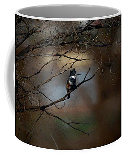 Female Belted Kingfisher 3 Coffee Mug by Ernie Echols