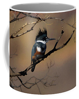 Female Belted Kingfisher Coffee Mug by Ernie Echols