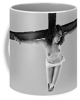 Female Christ On Cross V Coffee Mug