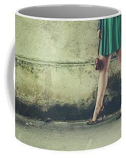 Female Legs In Leopard High Heels Coffee Mug