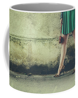 Female Legs In Leopard High Heels Coffee Mug