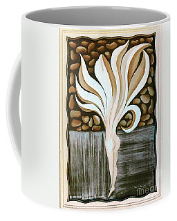 Coffee Mug featuring the painting Female Petal by Fei A