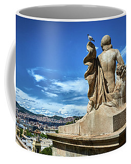 Coffee Mug featuring the photograph Female Sculpture At Montjuic by Eduardo Jose Accorinti