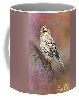 Female Sparrow On Branch Ginkelmier Inspired Coffee Mug