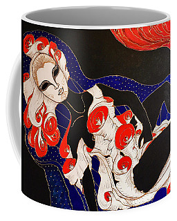 Coffee Mug featuring the painting Feminine Mystique by Rae Chichilnitsky