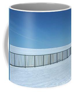 Fence In Snow Coffee Mug