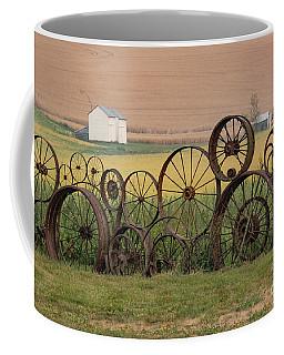 Fence Of Wheels Coffee Mug