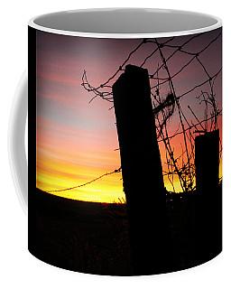 Fence Sunrise Coffee Mug
