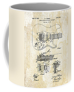 Fender Stratocaster Tremelo Patent Art IIi Coffee Mug by Gary Bodnar