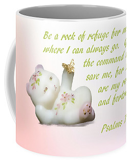 Coffee Mug featuring the photograph Fenton Glass Bear by Linda Phelps