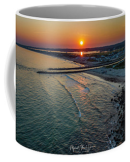 Coffee Mug featuring the photograph Fenway Beach Sunset by Michael Hughes