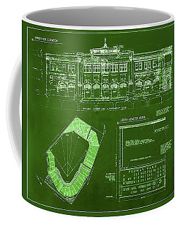 Fenway Park Blueprints Home Of Baseball Team Boston Red Sox Coffee Mug