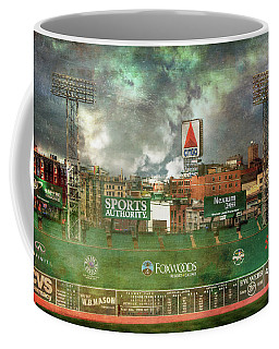 Coffee Mug featuring the photograph Fenway Park Green Monster And Citgo Sign by Joann Vitali