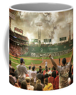 Coffee Mug featuring the photograph Fenway Park Green Monster by Joann Vitali
