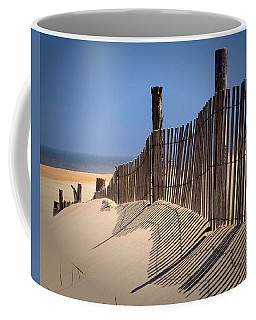 Fenwick Dune Fence And Shadows Coffee Mug