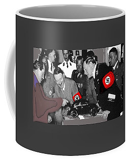 Ferdinand Porsche Showing The Prototype Of The Vw Beetle To Adolf Hitler 1935-2015 Coffee Mug