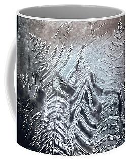 Fern Leaves. Sand Art Coffee Mug