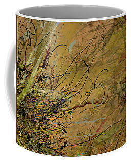 Fern Series Ping To Gray Tendril Detail Coffee Mug