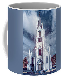 Coffee Mug featuring the photograph Ferndale Church In Infrared by Greg Nyquist